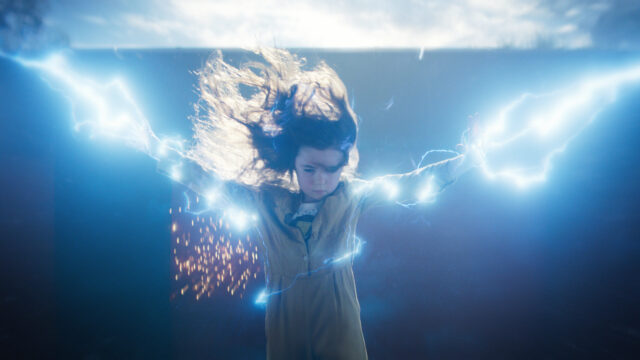 girl with electrical powers
